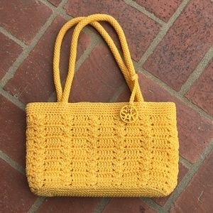 The Sak yellow crocheted bag.